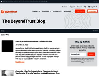 blog.beyondtrust.com screenshot