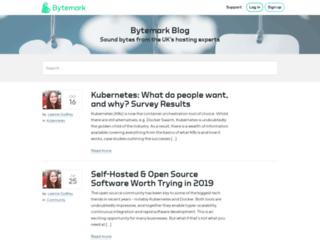 blog.bytemark.co.uk screenshot