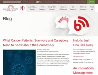 blog.cancersupportcommunity.org screenshot