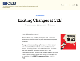 blog.ceb.com screenshot