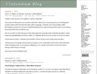 blog.citizendium.org screenshot