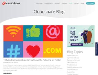 blog.cloudshare.com screenshot