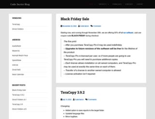 blog.codesector.com screenshot