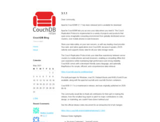 blog.couchdb.org screenshot