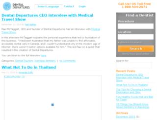 blog.dentaldepartures.com screenshot
