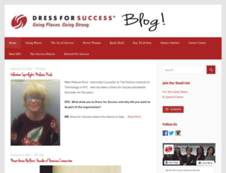 blog.dressforsuccess.org screenshot