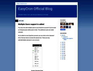 blog.easycron.com screenshot