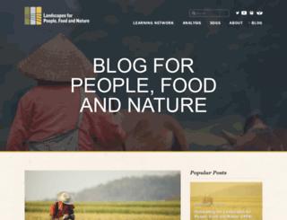 blog.ecoagriculture.org screenshot