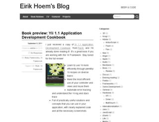 blog.eirikhoem.net screenshot