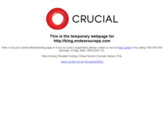 blog.endeavourapp.com screenshot