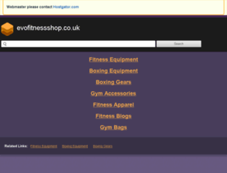 blog.evofitnessshop.co.uk screenshot