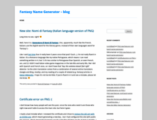 blog.fantasynamegen.com screenshot