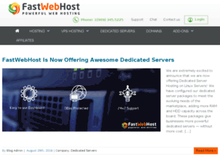blog.fastwebhost.com screenshot