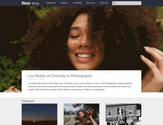 blog.flickr.com screenshot