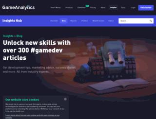 blog.gameanalytics.com screenshot