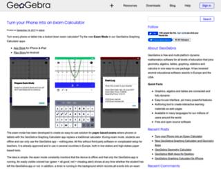 blog.geogebra.org screenshot