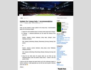 blog.hattrick-youthclub.org screenshot