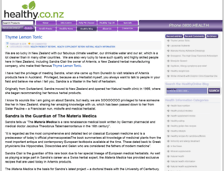 blog.healthy.co.nz screenshot
