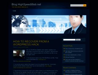 blog.highspeedweb.net screenshot