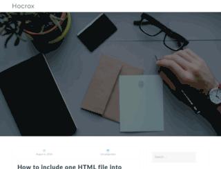 blog.hocrox.com screenshot