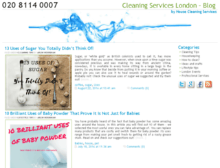 blog.housecleaning-services.co.uk screenshot