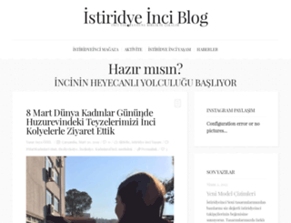 blog.istiridyeinci.com.tr screenshot