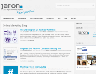 blog.jaron.de screenshot