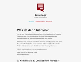 blog.jurablogs.com screenshot