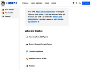 blog.kirupa.com screenshot