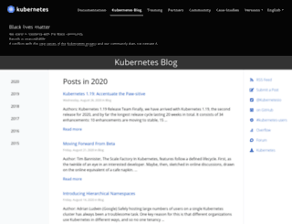 blog.kubernetes.io screenshot