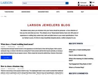 blog.larsonjewelers.com screenshot