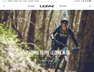 blog.lezyne.com screenshot