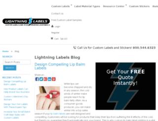 blog.lightninglabels.com screenshot