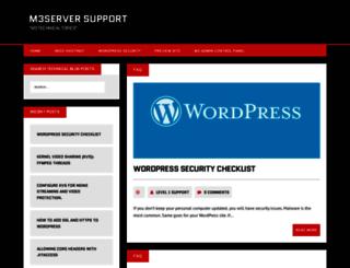 blog.m3server.com screenshot