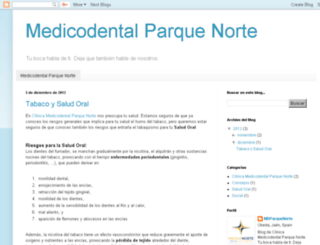 blog.medicodentalparquenorte.com screenshot