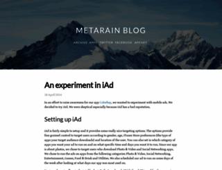 blog.metarain.com screenshot