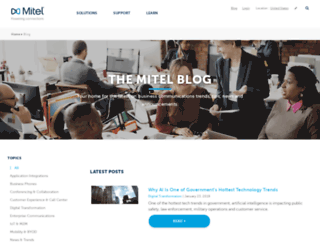 blog.mitel.com screenshot