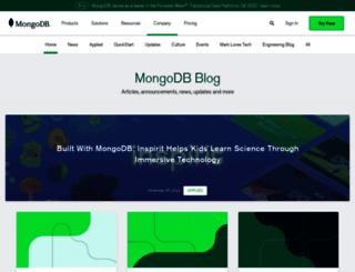 blog.mongodb.org screenshot