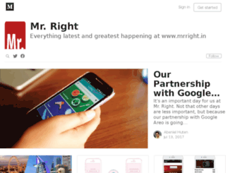 blog.mrright.in screenshot