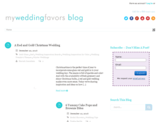 blog.myweddingfavors.com screenshot