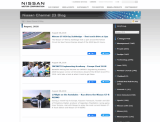 blog.nissan-global.com screenshot