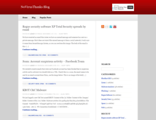blog.novirusthanks.org screenshot