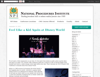 blog.npinstitute.com screenshot