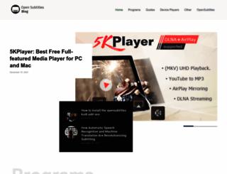 blog.opensubtitles.org screenshot
