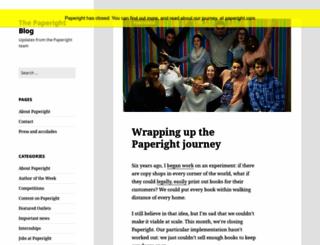 blog.paperight.com screenshot