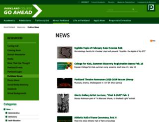 blog.parkland.edu screenshot