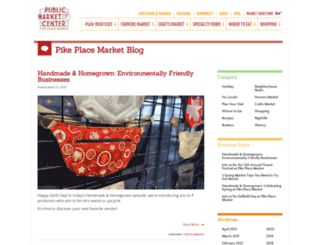 blog.pikeplacemarket.org screenshot