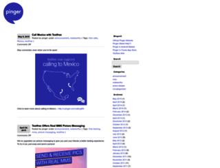blog.pinger.com screenshot