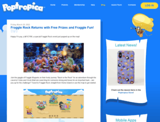 blog.poptropica.com screenshot