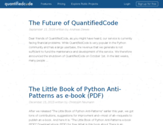 blog.quantifiedcode.com screenshot